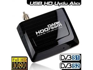 HDDREAM Zaman Ayarlı Kayıt Harici Mobile USB DVB S/S2 Uydu TV Kartı DK-AC-TVUSBDVBS2 Dark