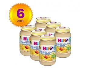 Kavanoz Maması Organik Elma ve Muz Püresi 125 Gr 6`lı Paket Hipp