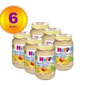 Hipp Kavanoz Maması Organik Elma ve Muz Püresi 125 Gr 6`lı Paket