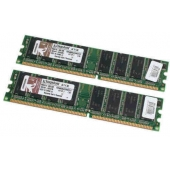 Kingston ValueRAM 1GB (2x512MB) DDR 400MHz KVR400X64C3AK2/1G