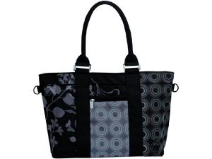 Casual City Shopper Bag Colorpatch Black - Siyah Desenli Alışveriş Çantası Lassig
