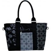 Lassig Casual City Shopper Bag Colorpatch Black - Siyah Desenli Alışveriş Çantası
