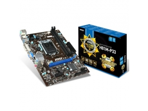 H81M-E33 DDR3 MATX VGA HDMI GLAN SATA3 USB 3.0 Anakart MSI