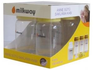 Anne Sütü Saklama Kabı 4 adet Milkway