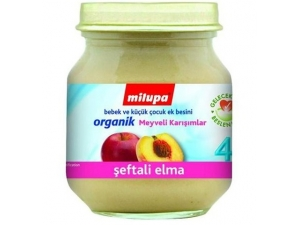 Organik Şeftali Elma 125 gr Milupa