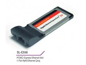 SL-EX46 Pcmci Express 10/100 Lan Kart S-link