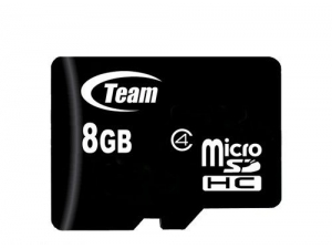 MicroSDHC 8GB Class 4 Team
