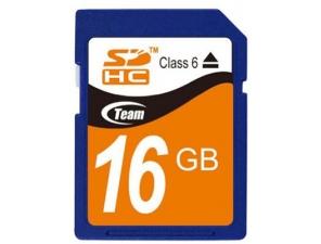 Secure Digital 16GB Class 6 (SDHC) Team