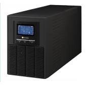 Tuncmatik 1KVA, Online, 2 Adet 12V 9AH Akü, 4-10 Dk , LCD UPS, Siyah (NEWTECH-ECO-1KVA)