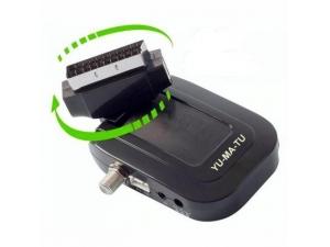 Mini Scart Uydu Alıcısı Sirius ve Biss Şifre Çözücülü Yumatu