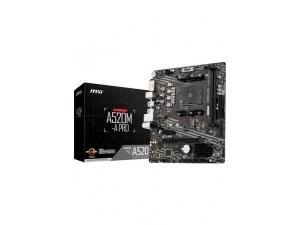 MSI A520M-A PRO AM4 DDR4 4600 DVI HDMI M.2 USB3.2 mATX Anakart