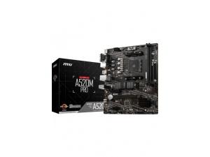 MSI A520M PRO AM4 DDR4 4600 VGA DVI HDMI M.2 USB3.2 mATX Anakart