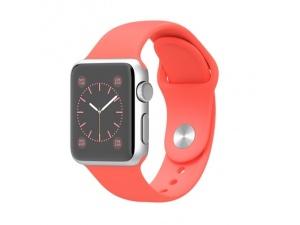 Watch (38 mm) Gümüş Rengi Alüminyum Kasa Pembe Spor Kordon Apple