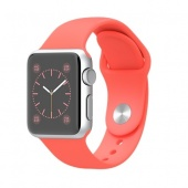 Apple Watch (38 mm) Gümüş Rengi Alüminyum Kasa Pembe Spor Kordon