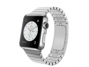 Watch (38 mm) Paslanmaz Çelik Kasa ve Baklalı Model Paslanmaz Çelik Bilezik Apple