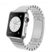 Apple Watch (38 mm) Paslanmaz Çelik Kasa ve Baklalı Model Paslanmaz Çelik Bilezik