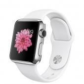 Apple Watch (38 mm) Paslanmaz Çelik Kasa ve Beyaz Spor Kordon
