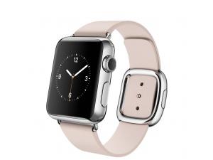 Watch (38 mm) Paslanmaz Çelik Kasa ve Modern Tokalı Açık Pembe Kayış Apple