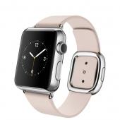 Apple Watch (38 mm) Paslanmaz Çelik Kasa ve Modern Tokalı Açık Pembe Kayış