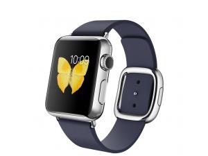 Watch (38 mm) Paslanmaz Çelik Kasa ve Modern Tokalı Gece Mavisi Kayış Apple