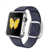 Apple Watch (38 mm) Paslanmaz Çelik Kasa ve Modern Tokalı Gece Mavisi Kayış