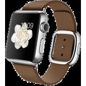 Apple Watch (38 mm) Paslanmaz Çelik Kasa ve Modern Tokalı Kahverengi Kayış