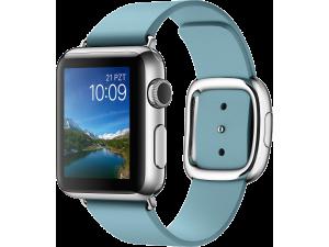 Watch (38 mm) Paslanmaz Çelik Kasa ve Modern Tokalı Kutup Mavisi Kayış Apple