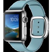 Apple Watch (38 mm) Paslanmaz Çelik Kasa ve Modern Tokalı Kutup Mavisi Kayış