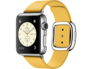 Watch (38 mm) Paslanmaz Çelik Kasa ve Modern Tokalı Marigold Kayış Apple