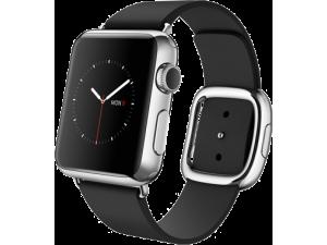Watch (38 mm) Paslanmaz Çelik Kasa ve Modern Tokalı Siyah Kayış Apple