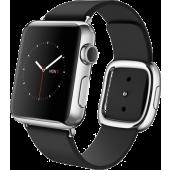 Apple Watch (38 mm) Paslanmaz Çelik Kasa ve Modern Tokalı Siyah Kayış