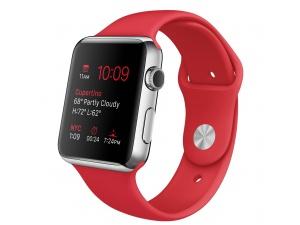 Watch (38 mm) Paslanmaz Çelik Kasa ve (PRODUCT) RED Spor Kordon Apple