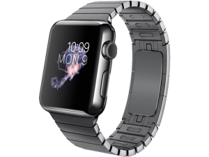 Watch (38 mm) Uzay Siyahı Paslanmaz Çelik Kasa ve Baklalı Model Uzay Siyahı Paslanmaz Çelik Bilezik Apple
