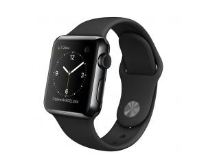 Watch (38 mm) Uzay Siyahı Paslanmaz Çelik Kasa ve Siyah Spor Kordon Apple