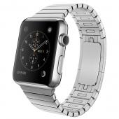Apple Watch (42 mm) Paslanmaz Çelik Kasa ve Baklalı Model Paslanmaz Çelik Bilezik