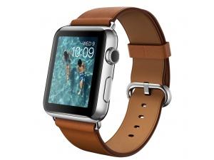 Watch (42 mm) Paslanmaz Çelik Kasa ve Klasik Tokalı Klasik Kahve Kayış Apple
