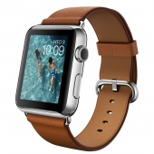 Apple Watch (42 mm) Paslanmaz Çelik Kasa ve Klasik Tokalı Klasik Kahve Kayış