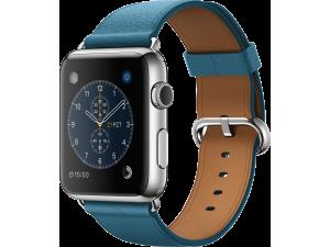 Watch (42 mm) Paslanmaz Çelik Kasa ve Klasik Tokalı Okyanus Mavisi Kayış Apple