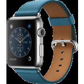 Apple Watch (42 mm) Paslanmaz Çelik Kasa ve Klasik Tokalı Okyanus Mavisi Kayış