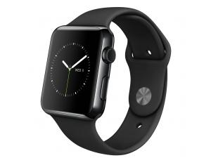 Watch (42 mm) Uzay Siyahı Paslanmaz Çelik Kasa ve Siyah Spor Kordon Apple