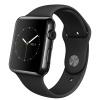 Apple Watch (42 mm) Uzay Siyahı Paslanmaz Çelik Kasa ve Siyah Spor Kordon