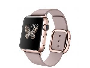 Watch Edition (38 mm) 18 Ayar Roze Altın Kasa ve Modern Tokalı Roze Gri Kayış Apple