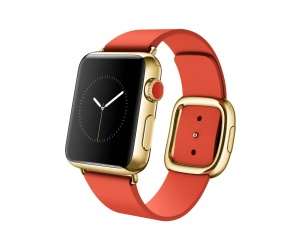 Watch Edition (38 mm) 18 Ayar Sarı Altın Kasa ve Modern Tokalı Parlak Kırmızı Kayış Apple