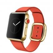 Apple Watch Edition (38 mm) 18 Ayar Sarı Altın Kasa ve Modern Tokalı Parlak Kırmızı Kayış