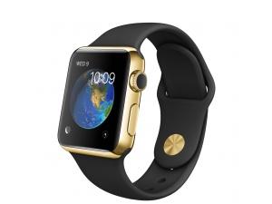 Watch Edition (38 mm) 18 Ayar Sarı Altın Kasa ve Siyah Spor Kordon Apple