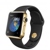 Apple Watch Edition (38 mm) 18 Ayar Sarı Altın Kasa ve Siyah Spor Kordon
