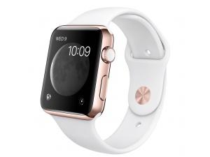 Watch Edition (42 mm) 18 Ayar Roze Altın Kasa ve Beyaz Spor Kordon Apple