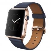 Apple Watch Edition (42 mm) 18 Ayar Roze Altın Kasa ve Klasik Tokalı Gece Mavisi Kayış