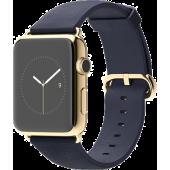 Apple Watch Edition (42 mm) 18 Ayar Sarı Altın Kasa ve Klasik Tokalı Gece Mavisi Kayış