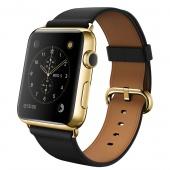 Apple Watch Edition (42 mm) 18 Ayar Sarı Altın Kasa ve Klasik Tokalı Siyah Kayış